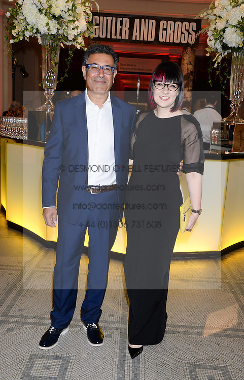 MAJED MOHAMMADI CEO of Cutler and Gross and MARIE WILKINSON at a party hosted by Cutler and Gross to celebrate the 30th anniversary of design director Marie Wilkinson held at the V&A Museum, Cromwell Road, London on 26th June 2013.