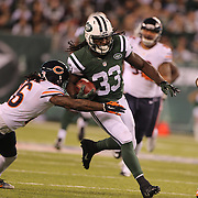 Chris Ivory, New York Jets, in action during the New York Jets Vs Chicago Bears, NFL regular season game at MetLife Stadium, East Rutherford, NJ, USA. 22nd September 2014. Photo Tim Clayton for the New York Times