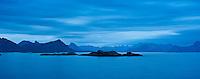View from Stamsund, Vestvagoy, towards Austvagoya, Lofoten islands, Norway