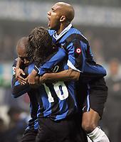 "Hernan Crespo, Olivier Dacourt (R), Maicon (L) (Inter) Hernan Crespo esulta dopo il gol con Dacourt e Maicon<br /> <br /> Italian ""Serie A"" 2006-07<br /> <br /> 28 Oct 2006 (match 9)<br /> <br /> Milan Inter 3-4<br /> <br /> ""Giuseppe Meazza"" Stadium-Milano-Italy<br /> <br /> Photographer Andrea Staccioli  INSIDE"