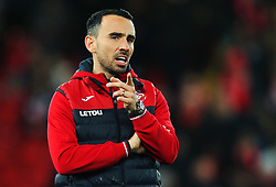 Swansea City caretaker manager Leon Britton gestures - Mandatory by-line: Matt McNulty/JMP - 26/12/2017 - FOOTBALL - Anfield - Liverpool, England - Liverpool v Swansea City - Premier League