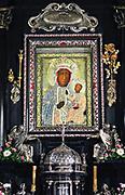 Obraz Czarnej Madonny w klasztorze na Jasnej Górze, Częstochowa, Polska<br /> Painting of the Black Madonna at the monastery on Jasna Góra, Częstochowa, Poland