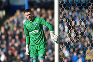 Portsmouth Goalkeeper, Luke McGee (1) during the EFL Sky Bet League 1 match between Portsmouth and Blackpool at Fratton Park, Portsmouth, England on 24 February 2018. Picture by Adam Rivers.