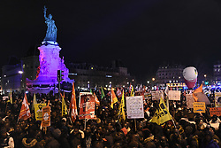 December 18, 2018 - Paris, Ile-de-France (region, France - On the occasion of the International Migrants Day, a demonstration was held in Paris. Walk against racism and fashism. (Credit Image: © Julien Mattia/Le Pictorium Agency via ZUMA Press)
