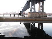 ' Life under the Manhattan Bridge'  in Manhattan, NY