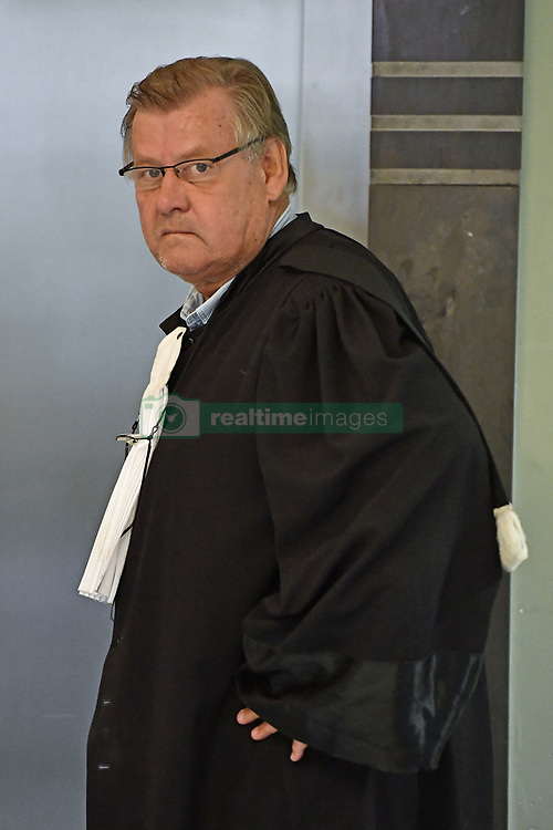 October 26, 2018 - Tongeren, BELGIUM - lawyer Didier De Quevy, defending Fabien Camus, pictured at a session of the council chamber, at the justice palace in Tongeren, Friday 26 October 2018. Several suspects in a large investigation into tax evasion, money laundering and possible match fixing in Belgian first division soccer competition were arrested in 'Operatie Propere Handen' (Operation Clean Hands)...BELGA PHOTO ERIC LALMAND (Credit Image: © Eric Lalmand/Belga via ZUMA Press)