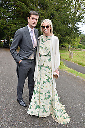The HON.ALEXANDER SPENCER-CHURCHILL and the HON.SOPHIA HESKETH at the wedding of Princess Florence von Preussen second daughter of Prince Nicholas von Preussen to the Hon.James Tollemache youngest son of the 5th Lord Tollemache held at the Church of St.Michael & All Angels, East Coker, Somerset on 10th May 2014.