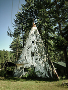 Concrete teepee on Highway 35 in Woods Bay