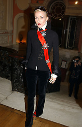 DAPHNE GUINNESS at a party to celebrate the publication of Andrew Robert's new book 'Waterloo: Napoleon's Last Gamble' and the launch of the paperback version of Leonie Fried's book 'Catherine de Medici' held at the English-Speaking Union, Dartmouth House, 37 Charles Street, London W1 on 8th February 2005.<br />