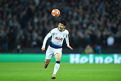 February 13, 2019 - London, England, United Kingdom - Tottenham forward Heung-Min Son in action during the UEFA Champions League match between Tottenham Hotspur and Ballspielverein Borussia 09 e.V. Dortmund at Wembley Stadium, London on Wednesday 13th February 2019. (Credit: Jon Bromley | MI News & Sport Ltd) (Credit Image: © Mi News/NurPhoto via ZUMA Press)