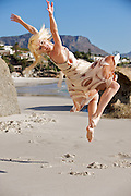 South Africa,Cape Town,Clifton Beach<br /> Kristin Wilson of the Dance for All Company on Clifton Beach.<br /> Photography by Richard Olivier©2009<br /> Tel 0044 07947 884 517<br /> www.linkphotographers.com<br /> dfa_clftn_090319_0434