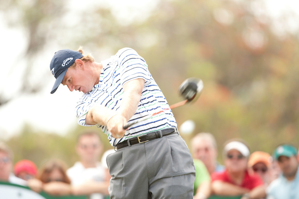 DORAL, FL - MARCH 15:  Ernie Els hits his tee shot during the fourth round of the 2009 WGC-CA Championship at Doral Golf Resort and Spa in Doral, Florida on Sunday, March 15, 2009. (Photograph by Darren Carroll) *** Local Caption *** Ernie Els