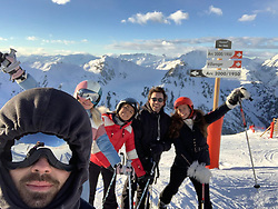 """Joe Jonas releases a photo on Twitter with the following caption: """"""""The ski journal continues! Amazing day here in Val-d'Isère, France today. We skied the longest run in Europe today and drank all the Rosé what a thrill 🎿"""""""". Photo Credit: Twitter *** No USA Distribution *** For Editorial Use Only *** Not to be Published in Books or Photo Books ***  Please note: Fees charged by the agency are for the agency's services only, and do not, nor are they intended to, convey to the user any ownership of Copyright or License in the material. The agency does not claim any ownership including but not limited to Copyright or License in the attached material. By publishing this material you expressly agree to indemnify and to hold the agency and its directors, shareholders and employees harmless from any loss, claims, damages, demands, expenses (including legal fees), or any causes of action or allegation against the agency arising out of or connected in any way with publication of the material."""