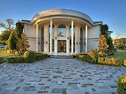 Ladies and Gentlemen, we are now pulling up to the front door! The $48m Las Vegas mansion with its own runway and AIRPORT<br /> <br /> House-hunters who won't settle for anything less than a personal zoo, car museum, 'equestrian pool' and jumbo jet with its own terminal, are in luck.<br /> A 40-acre ranch with all of the above and more is not only for sale but has been price chopped by a whopping $22 million. <br /> The outrageously massive property, located in the heart of Las Vegas, just minutes from McCarran Airport and the Las Vegas Strip, hit the market in September for $70 million.<br /> <br /> <br /> But the estate, which comprises a main house and seven additional homes, could now be yours for the just $48 million. <br /> According to Synergy Sotheby's International, Casa de Shenandoah, as the property is called, comes with a 37 stall stable with office and tack rooms, 16 stall stable with office, an equestrian pool and acres of corrals and pastures.<br /> <br /> <br /> It also boasts car museum with 7 double doors, gaming room, green room, a Zoo, tennis court, ponds with fountains and too much more to list. <br /> But the best bit has got to be the F28 jet and terminal for entertaining on the ground.<br /> The home was originally built in 1952 but the listing explains 'the new owner has invested in excess of $15-20 million in improvements.'<br /> ©Sotheby's International/Exclusivepix