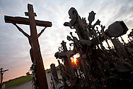 The Hill of Crosses is a religious and tourist destination near ?iauliai, Lithuania comprised of over 200,000 crosses placed in close proximity.