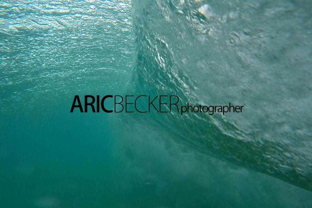 Look behind a wave at Big Beach on Maui