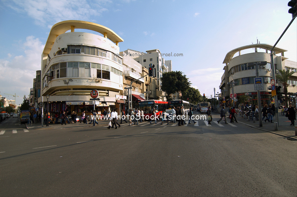 Israel, Tel Aviv, Allenby street, Magen David junction, carmel market, view on king George and shenkin street November 2005