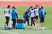Iago Aspas, César Azpilicueta, Lucas Vazquez and Marco Asensio during Spain training session a few days before soccer match between Spain and Argentina in Madrid , Spain. March 24, 2018. (ALTERPHOTOS/Borja B.Hojas)