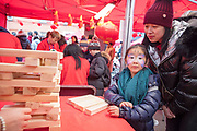 NO FEE PICTURES                                                                                                                                                                  26/1/20 Ling Li and daughter Yanxi Chen, age 7, celebrating the Chinese New Year, the year of the Rat at the New Years festival at Hill street in Dublin's north inner city. Picture: Arthur Carron