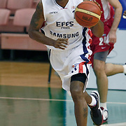 Efes Pilsen's Bootsy THORNTON during their Turkish Basketball league Play Off first leg match Efes Pilsen between Erdemir at the Ayhan Sahenk Arena in Istanbul Turkey on Thursday 29 April 2010. Photo by Aykut AKICI/TURKPIX