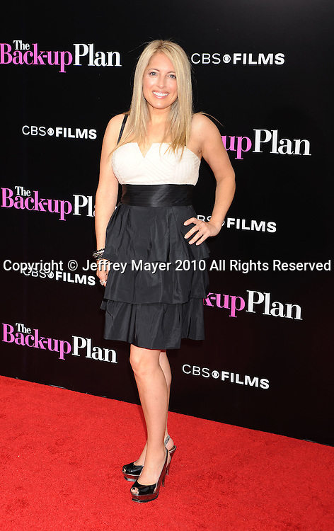 """WESTWOOD, CA. - April 21: Amy Block attends the """"The Back-Up Plan"""" Los Angeles Premiere at Regency Village Theatre on April 21, 2010 in Westwood, California."""