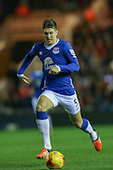 Everton defender John Stones  during the Capital One Cup match between Middlesbrough and Everton at the Riverside Stadium, Middlesbrough, England on 1 December 2015. Photo by Simon Davies.