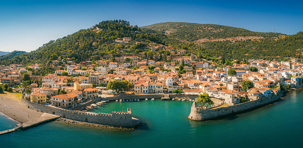 Nafpaktos on the north coast of the Gulf of Corinth, Greece