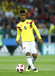 July 3, 2018 - Moscow, Russia - Round of 16 England v Colombia - FIFA World Cup Russia 2018.Wilmar Barrios (Colombia) at Spartak Stadium in Moscow, Russia on July 3, 2018. (Credit Image: © Matteo Ciambelli/NurPhoto via ZUMA Press)