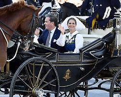 June 6, 2017 - Stockholm, Sweden - Princess Madeleine, Christopher O'Neill..National day celebrations, Royal family, cortege to Skansen, Stockholm, 2017-06-06..(c) Karin Törnblom / IBL ....Nationaldagen, kortege, Skansen, 2017-06-06 (Credit Image: © Karin TöRnblom/IBL via ZUMA Press)