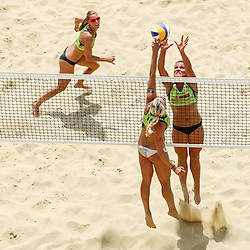 Erika Fabjan vs Mojca Pene and Nina Kontrec during Beach Volleyball Slovenian National Championship 2016, on July 23, 2016 in Kranj, Slovenia. Photo by Matic Klansek Velej / Sportida