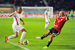November 11, 2017 - Rades, Tunisia - Wahbi Khazri(10) in action during the Qualifying match for the 2018 FIFA Russia World Cup at Rades Stadium between Tunisia and Libya..Tunisia qualifies for the Russian world after a draw 0/0. (Credit Image: © Chokri Mahjoub via ZUMA Wire)