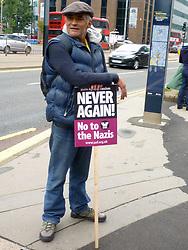 Anti-racist protest outside Home Office, London September 2015 UK