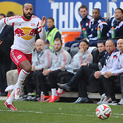 Thierry Henry, New York Reds Bulls, in action during the New York Red Bulls Vs New England Revolution, MLS Eastern Conference Final, first leg at Red Bull Arena, Harrison, New Jersey. USA. 23rd November 2014. Photo Tim Clayton