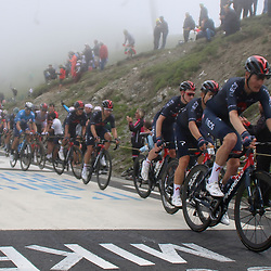 LUZ ARDIDEN (FRA) CYCLING: July 15<br /> 18th stage Tour de France Pau-Luz Ardiden<br /> Images from the Col du Tourmalet<br /> Dylan van Baarle