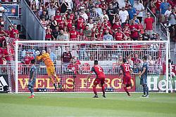 August 12, 2018 - Toronto, Ontario, Canada - MLS Game at BMO Field 2-3 New York City. IN PICTURE: DAVID VILLA, JONATHAN OSORIO, BRAD STUVER (Credit Image: © Angel Marchini via ZUMA Wire)