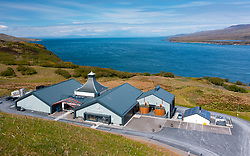 Aerial view from drone of new Ardnahoe scotch whisky distillery on Islay , Inner Hebrides , Scotland, UK