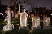 grave yard cemetery ghost light