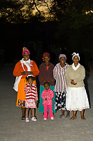 A group of African women and girls, Etosha National Park, Namibia