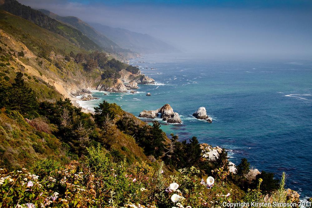 The coastline of Big Sur