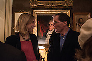 TRACY BORMAN; NICHOLAS CLEE, The Walter Scott Prize for Historical Fiction 2015 - The Duke of Buccleuch hosts party to for the shortlist announcement. <br /> The winner is announced at the Borders Book Festival in Scotland in June.John Murray's Historic Rooms, 50 Albemarle Street, London, 24 March 2015.