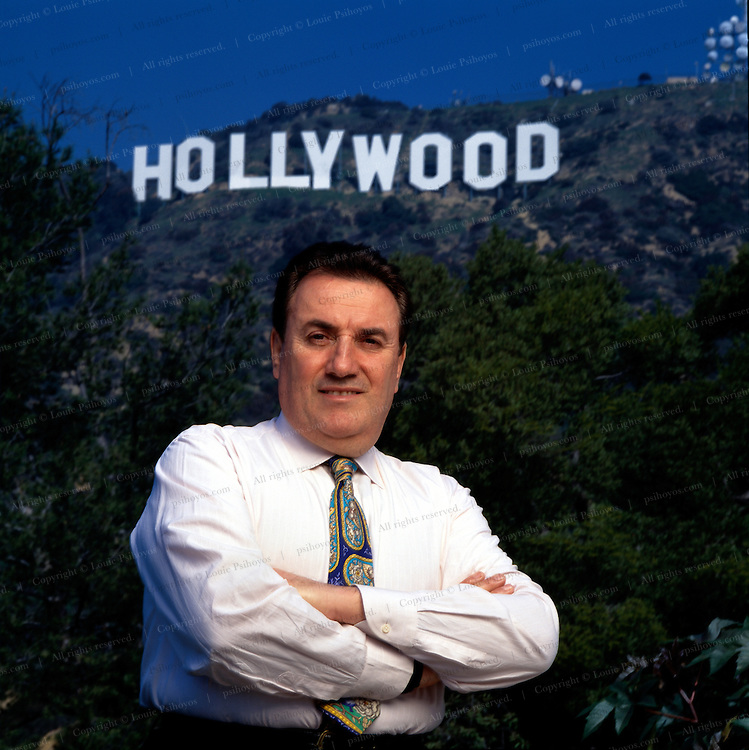 Giancarlo Parretti, an Italian investor who bought the struggling film company MGM for over a billion dollars and then went bankrupt.  Photographed in Hollywood.