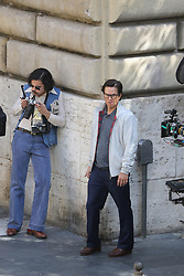 """EXCLUSIVE: Michelle Williams and Mark Wahlberg are set to star in the tale of the world's wealthiest man, J. Paul Getty (Kevin Spacey), who refuses to pay the ransom when his grandson is kidnapped, forcing the boy's mother (Williams) to team with an ex-CIA negotiator (Wahlberg) to try and save her son. Charlie Plummer will play the boy, J. Paul Getty III. Just after the news of the kidnapping, Wahlberg tries to protect Williams from the assault of paparazzi outside her home in Rome. Ex-CIA negotiator (Wahlberg) exit from the house of Paul Getty's mother (Williams), find on the roof of his car a write with a symbol of """"Brigate Rosse"""" (Italian terrorist). 05 Jun 2017 Pictured: Mark Wahlberg. Photo credit: MEGA TheMegaAgency.com +1 888 505 6342"""