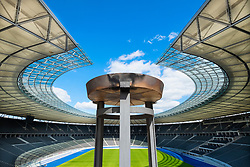Olympic flame at Olympiastadion ( Olympic Stadium) in Berlin, Germany