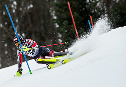 """Erik Read (CAN) competes during 1st Run of FIS Alpine Ski World Cup 2017/18 Men's Slalom race named """"Snow Queen Trophy 2018"""", on January 4, 2018 in Course Crveni Spust at Sljeme hill, Zagreb, Croatia. Photo by Vid Ponikvar / Sportida"""