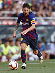 Lionel Messi of FC Barcelona during the Trofeu Joan Gamper match between FC Barcelona and Boca Juniors at the Camp Nou stadium on August 15, 2018 in Barcelona, Spain