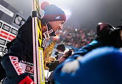 06.01.2018, Paul Außerleitner Schanze, Bischofshofen, AUT, FIS Weltcup Ski Sprung, Vierschanzentournee, Bischofshofen, Finale, im Bild Gesamtsieger Kamil Stoch (POL) // Overall Winner Kamil Stoch of Poland during the Winner Award Ceremony of the Four Hills Tournament of FIS Ski Jumping World Cup at the Paul Außerleitner Schanze in Bischofshofen, Austria on 2018/01/06. EXPA Pictures © 2018, PhotoCredit: EXPA/ JFK