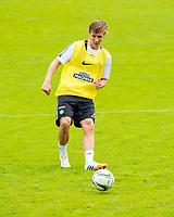 02/07/14<br /> CELTIC TRAINING<br /> AUSTRIA<br /> Celtic's Stefan Johansen in action at pre-season training