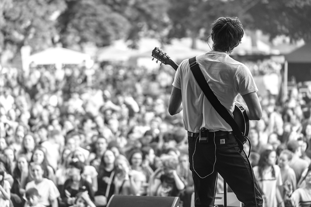 Rob Ellis of British indie-rock band Cassia at the Open Ohr Festival