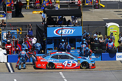 April 29, 2018 - Talladega, Alabama, United States of America - Darrell Wallace, Jr (43) brings his car down pit road for service during the GEICO 500 at Talladega Superspeedway in Talladega, Alabama. (Credit Image: © Chris Owens Asp Inc/ASP via ZUMA Wire)