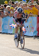 London 7th July 2007: Predictor Lotto's Cadel Evans (#041) finished 17th overall at 36 seconds in the opening prologue of the 2007 Tour de France cycling race.